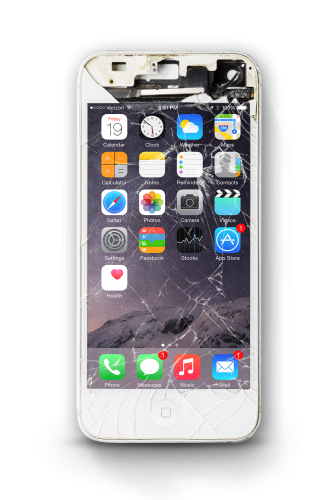iPhone Screen Cracked Mockup by Nathanael Arias